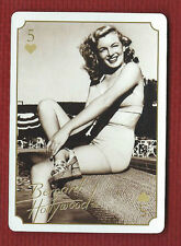 MARILYN MONROE Star Playing Card Five of Hearts Bernard Hollywood Issue