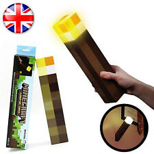 Minecraft Torch Light Up Bright Children Kids Fun Toy Wall Mountable Read Lamp