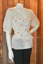 RETRO 1940'S STYLE BLOUSE FROM LITHE BY ANTHROPOLGIE!! SZ8