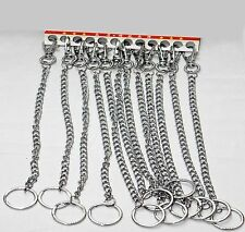 Silver Long Heavy Bike Bicycle Keyring with Hipster Chain Key Chain 28cm