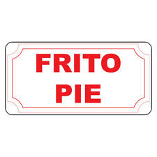 Frito Pie Red Retro Vintage Style Metal Sign - 8 In X 12 In With Holes