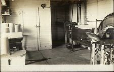 Cattle Cow Barn - Veterinary Table? Equipment c1905 Real Photo Postcard