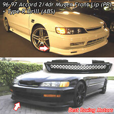 Mu-gen Style Front Lip (PP) + TR Style Grill (ABS) Fits 96-97 Honda Accord