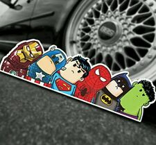 Pegatina reflectante Superhéroe Los Vengadores Fresco Divertido Coche Decal Sticker Bomb DC