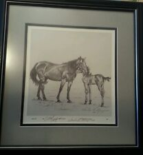 ARTIST PROOF BY WANDA HICKERSON MORGAN OF MOTHER HORSE AND BABY,  HEART TO HEART
