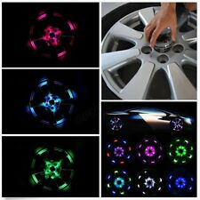 Car Wheel Center Caps Hub Solar 12 LED Flash Light Transformers Auto bot