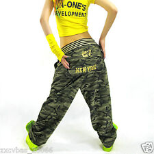 HOt! Casual camouflage pants hip-hop pants girl woman relaxed casual