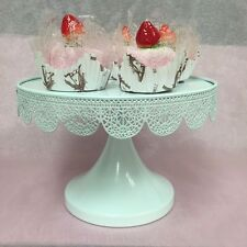 "ROUND CAKE STAND Metal 9.5"" Modern Dessert Wedding Display Birthday Party Event"