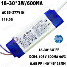 2PCS 85-277V LED Driver 18-30x3W 560mA DC55-105V PF Constant Current 18-30PCS 3W