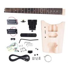 Unfinished DIY Electric Guitar Kit Basswood Body Rosewood Fingerboard Maple Neck