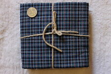 PRIMITIVE FABRIC- GREAT FOR QUILTS OR CRAFTS -1 YD. BLUE MULTI PLAID