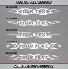 Window Graphic Front or Rear Custom Design Vinyl Decal Sticker Swirl Banner Back
