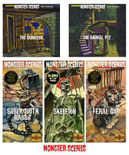 Monster Scenes/Aurora  Set of 5 Dungeon /Animal Pit  Model Kits 05AAT01