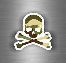 Sticker car motorcycle helmet decal vinyl chopper biker skull camo