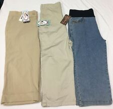 NWT Lot Of 3 Womens Oh! Mamma Celebrity Pink Maternity Capri Khaki Jeans Size M