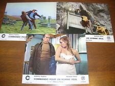 "LOT 3 PHOTOS DU FILM ""COMMANDO POUR UN HOMME SEUL"" /3/ ANTHONY HOPKINS / TBE"