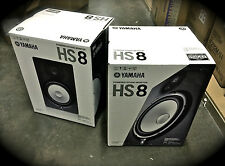 Yamaha HS-8 Powered Studio Monitors *PAIR* HS8 Shipping Included - BEST VALUE!!