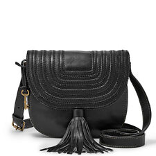 New Fossil Emi Saddle Bag Black ZB6849001