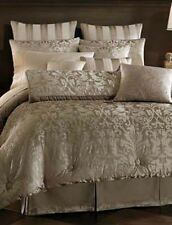 Croscill MAJESTIC Queen COMFORTER Euro SHEET Set 16PC Warm Gray/Taupe & Ivory