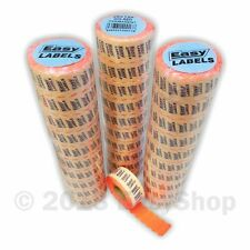 26 x 12mm Price Mark Gun Labels CT4 Motex Fluorescent Red with Peelable Adhesive