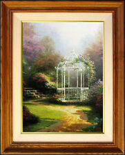 Thomas Kinkade #1/295 Lilac Gazebo Winsor Manor 16x12 A/P Framed Canvas England