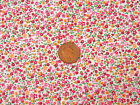 1:12 White Material With Multi Coloured Floral Pattern Dolls House Miniature 1
