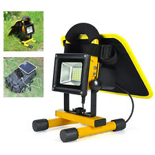 10W Solar Powered Outdoor Rechargeable 20 LED Flood Light USB Work lamp Camping