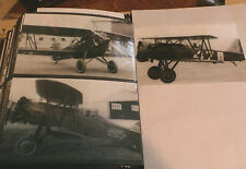 WWII U.S. NAVY-ARMY BIPLANE AIRPLANES LOT OF 3 B&W 4X6 PHOTOGRAPHS SET #54a