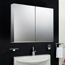 "HOMCOM 22"" Wall Mount Mirrored Bathroom Medicine Cabinet Storage Mirror Door New"