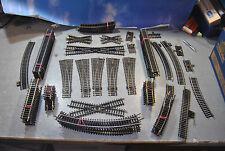 Lima / Prefo / Piko H0 Konvolut Gleismaterial Schienen & Weichen ca 65-teilig