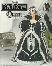 Black Onyx Queen Crochet Barbie Fashion Doll Gown Patterns Annie's Attic NEW