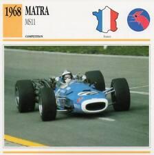 1968 MATRA MS11 Racing Classic Car Photo/Info Maxi Card