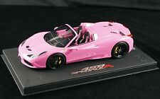 1/18 BBR FERRARI 458 SPECIALE A SPIDER GLOSS QATAR PINK DELUXE BASE LE 15 PCS
