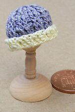 1:12 Scale Ladies Grey Crochet Hat Dolls House Miniature Clothing Accessory T4