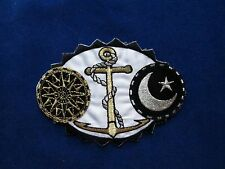 3302 Gold/Black Moon,Star,Anchor W/Rope Balance Zodiac Embroidery Applique Patch