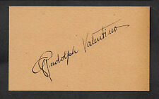 Rudolph Valentino Autograph Reprint On Old 3x5 Card