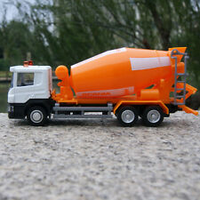 "Orange Scania P-Series Cement Truck 6"" Alloy Diecast Model Car 1:64 Toys Slide"