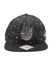 OFFICIAL STAR WARS MILLENNIUM FALCON IN SPACE WITH STAR PRINT SNAPBACK CAP (NEW)