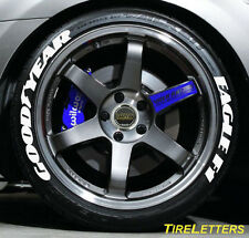 "TIRE LETTERS - 1"" TALL - LOW PROFILE - goodyear eagle f1 - (SWOOSH DESIGN) SALE"
