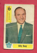 1958-59 PARKHURST # 25 LEAFS BILLY REAY COACH  CARD