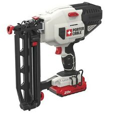 NEW Porter Cable Cordless 20-Volt 16 Gauge Straight Finish Strip Nailer Kit! Gun