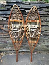 OLD Snowshoes 48x12 Snow Shoes ANTIQUE Interesting For Decoration