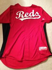Authentic Game Worn 2013 Cincinnati Reds Batting Practice Jersey (Size 50)