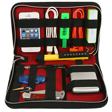 Zippered Case Bag Cables Cosmetic Organizer USB Flash Drive Chargers Headsets