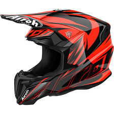 AIROH CASCO TWIST 2016 EVIL ARANCIONE ORANGE HELMET MOTO CROSS ENDURO TG M