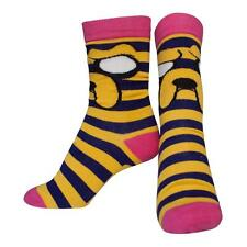 ADVENTURE TIME Female Jake with Striped Pattern Crew Socks, 38/41, Multi-Colour