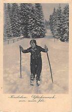 B99601 ski new year neujahr child enfant  germany  sport