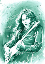 Rory Gallagher Poster groß A3 Musik Kunst art print rock star blues music guitar