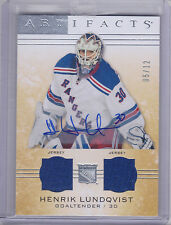 14-15 UD Artifacts Materials Dual Jersey Auto Silver Henrik Lundqvist #101 5/12