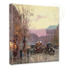 "Thomas Kinkade Wrap - Paris Twilight – 14"" x 14"" Gallery Wrapped Canvas"